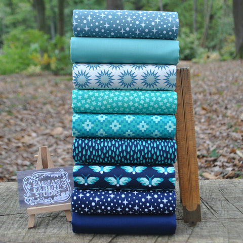 The 'Forest Talk RED and BLUE' Fat Quarter Bundle - Cathy Nordstrom - Andover