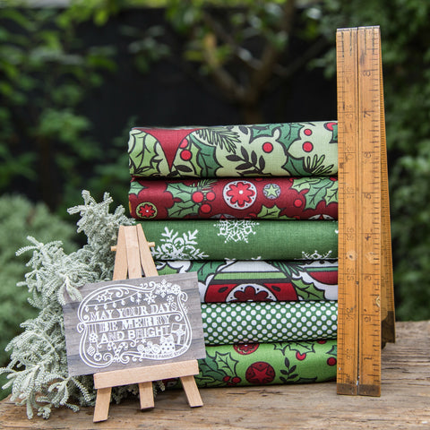The 'Hannah' Fat Quarter Bundle - Santa's Workshop - Riley Blake Designs
