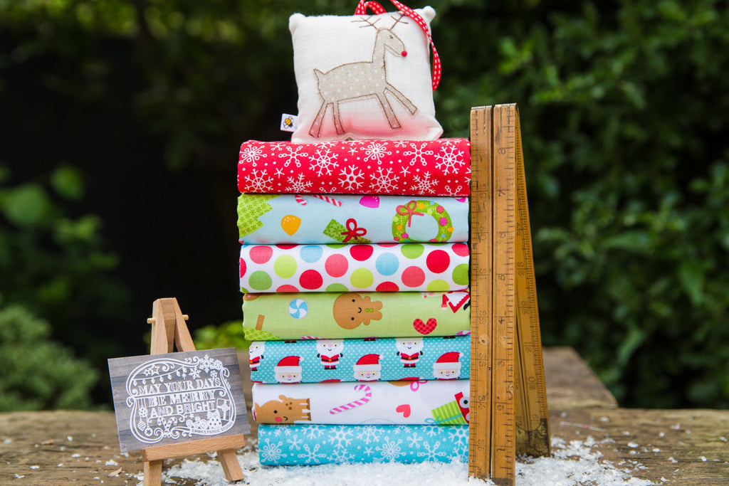 The 'Charlotte' Fat Quarter Bundle - Santa Express - Riley Blake Designs
