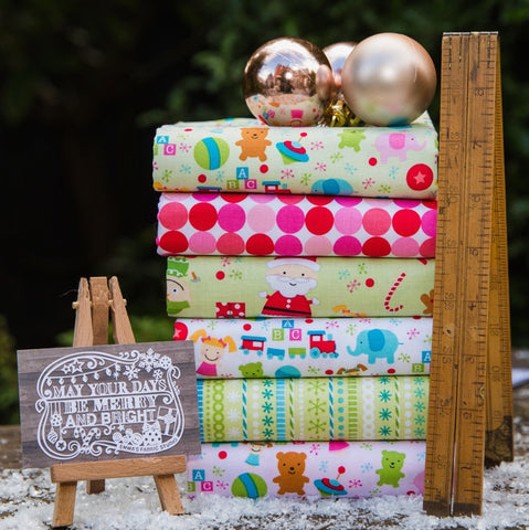 The 'Joanne' Fat Quarter Bundle - Christmas Lights - Michael Miller