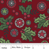 The 'Sharon' Fat Quarter Bundle - Holly Jolly - Riley Blake Designs