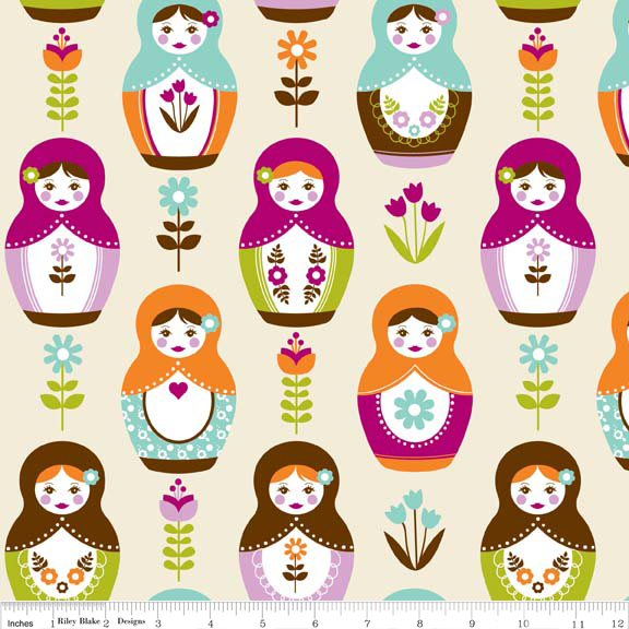 FQ0527 - Little Matryoshka Cottons - Carly Griffith - Riley Blake Designs