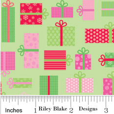 FQ0241 Postcards For Santa GREEN - Riley Blake Designs