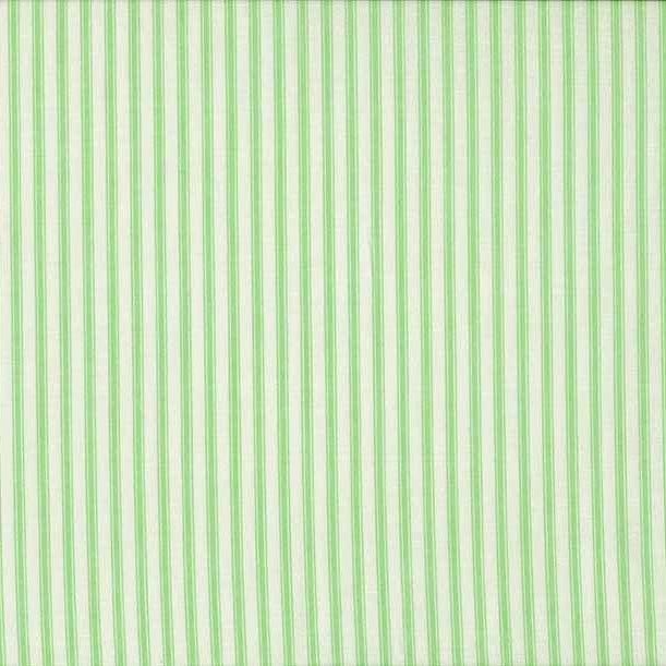 FQ0677 Ticking Stripe GREEN - Basics - Makower UK