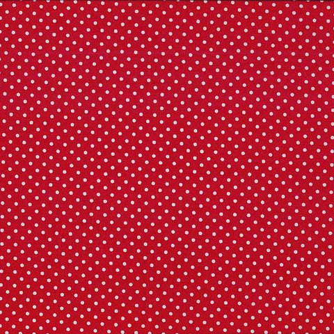 FQ0693 Spots on White - RED - Basics - Makower UK