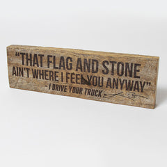 Flag and Stone Woodblock
