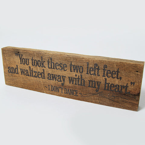 You Took These Two Left Feet Woodblock