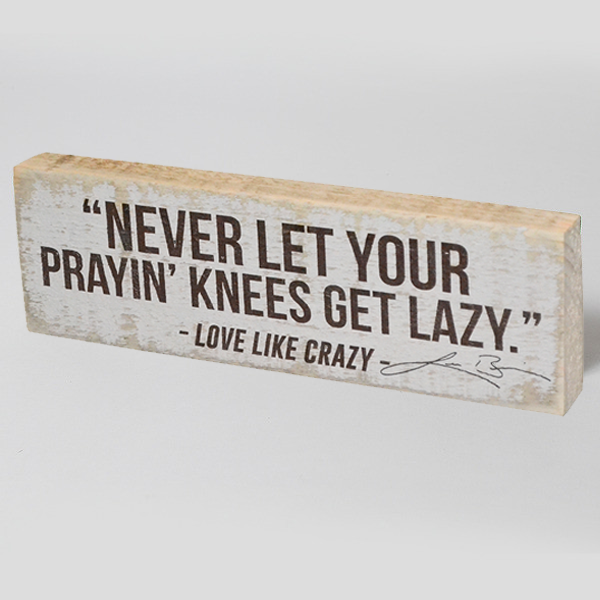 Prayin' Knees Woodblock