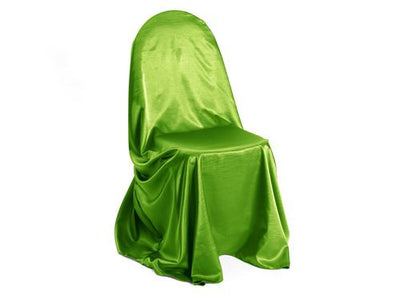 Groovy Lime Satin Dupioni Bag Style Chair Cover Pabps2019 Chair Design Images Pabps2019Com