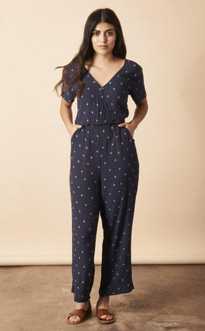 Baby Cacti Jumpsuit in Chambray + Cream