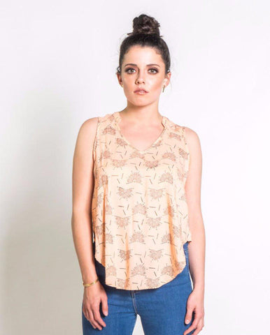 Dragonfly Camisole in Cream + Wild Berry