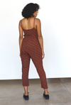 Leopard Strappy Jumpsuit in Sierra + Black