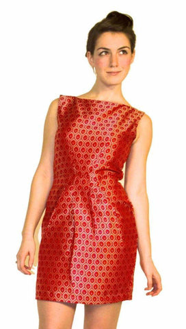 Hibiscus Empress Wrap Dress Red Lipstick + Gold
