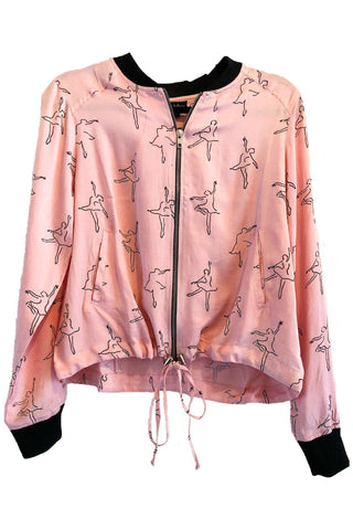 Cherry Blossom Haori -Inspired Jacket in Terra Cotta + Gold