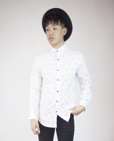 Fitted Button Up in 3D Stars