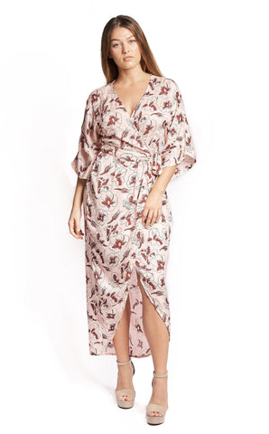 Cherry Blossom Maxi Wrap in Black + Gold