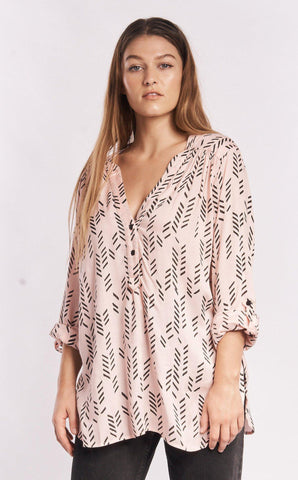Ginkgo Leaf Silk Blouse