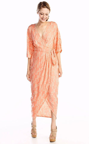 Hibiscus Flower 2-in-1 Tie Maxi in Terra Cotta & Black