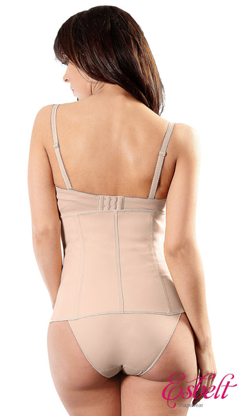 Esbelt ES404 Brazilian Slimming Corset Latex Waist Trainer (Natural)
