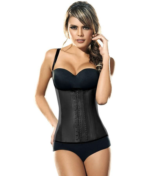 Ann Chery 2027 Chaleco Latex Waist Trainer Black/ Nude