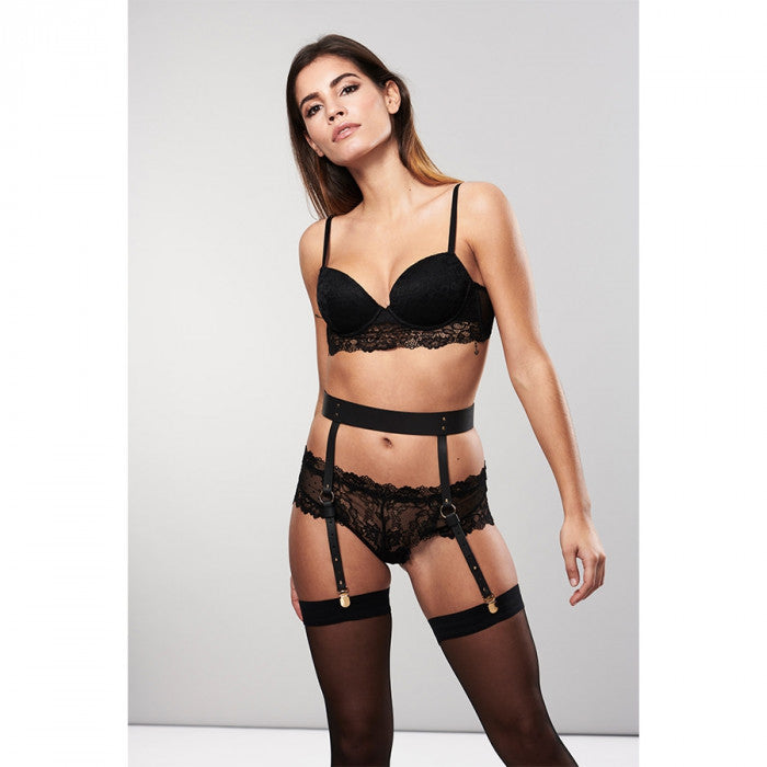 45a055d78db67 Maze Suspender Belt at Polina's PRIVÉ Fine Lingerie