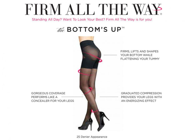 Firm All The Way Bottom's Up Sheer Tights