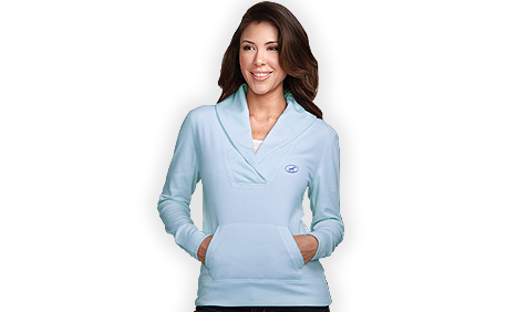 BigDog® Women's Light Weight Micro-Fleece Pullover Blue