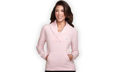 BigDog® Women's Light Weight Micro-Fleece Pullover Pink