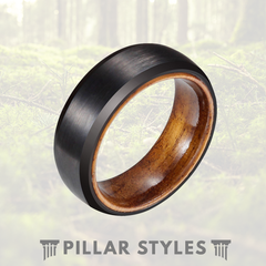 Matte Tungsten Wood Wedding Band