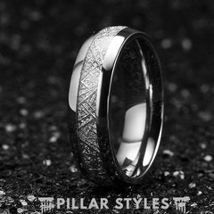 Tungsten Meteorite Ring 6mm Wedding Band