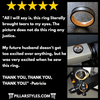 Thin 18K Rose Gold Ring Womens Wedding Band Faceted Tungsten Ring - 6mm Black Mens Ring