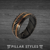 Unique Damascus Steel Ring for Men