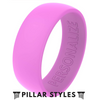 Personalized Silicone Ring - Pillar Styles