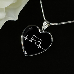Cow Lover Heartbeat Necklace - Pillar Styles