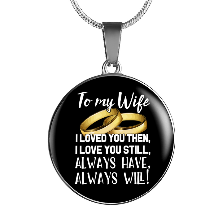 To My Wife Necklace and Bangle - Pillar Styles