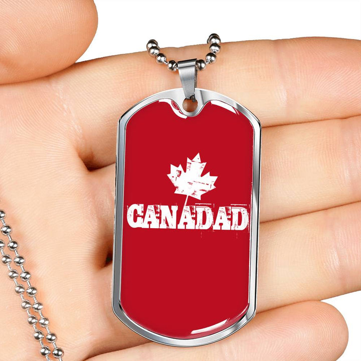 Canada Dad Red Dog Tag