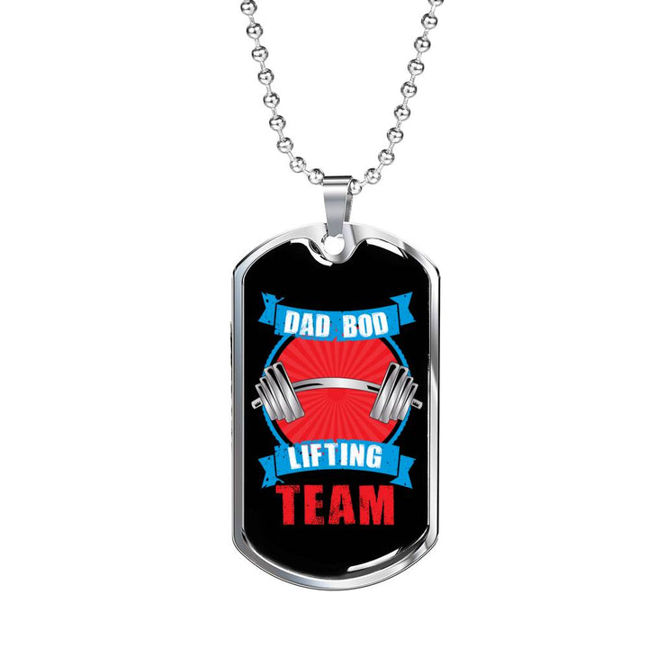 Dad Bod Lifting Team Dog Tag