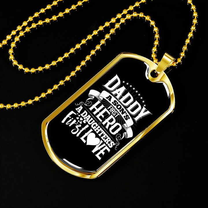 Daddys First Hero Dog Tag