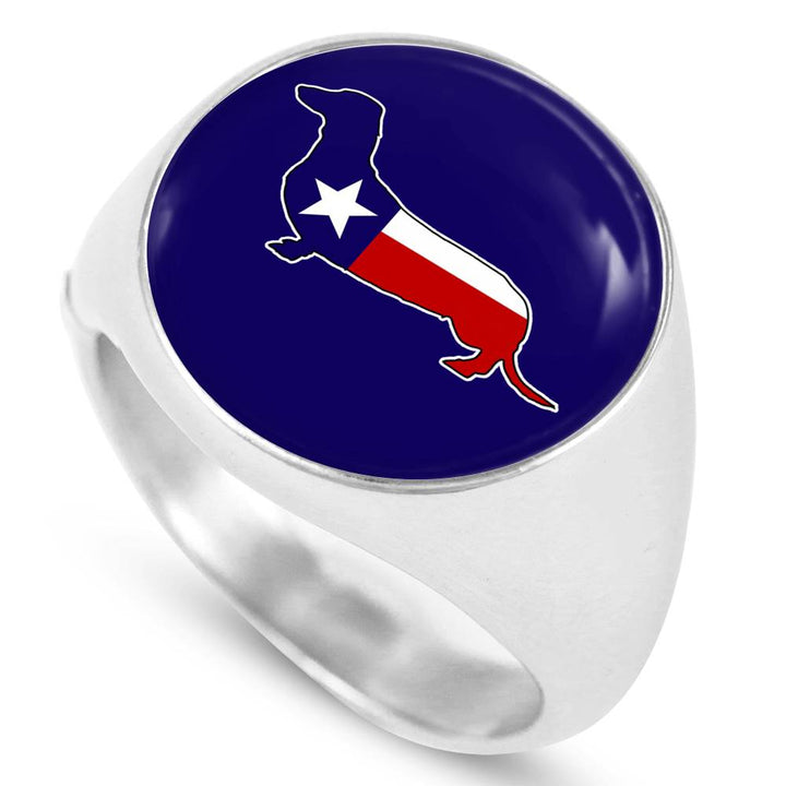 Texas Dachshund Stainless Steel Ring