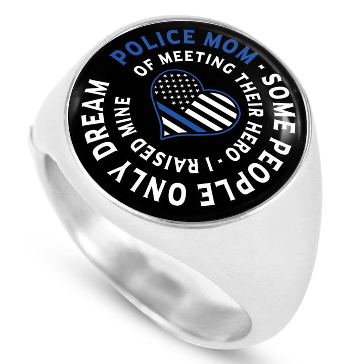 Police Mom Steel Ring