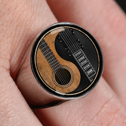 Guitar Steel Ring - Pillar Styles