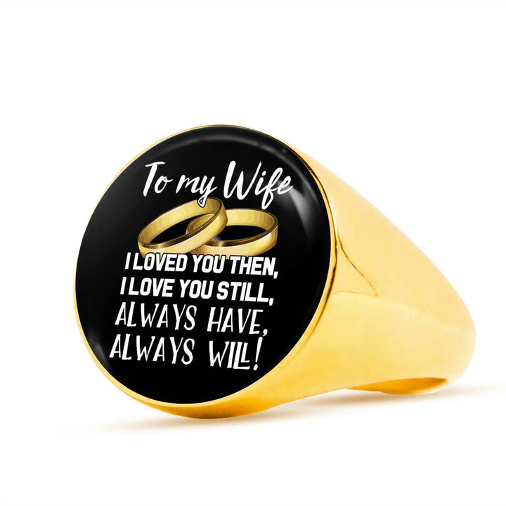 To My Wife Stainless Steel Ring - Pillar Styles