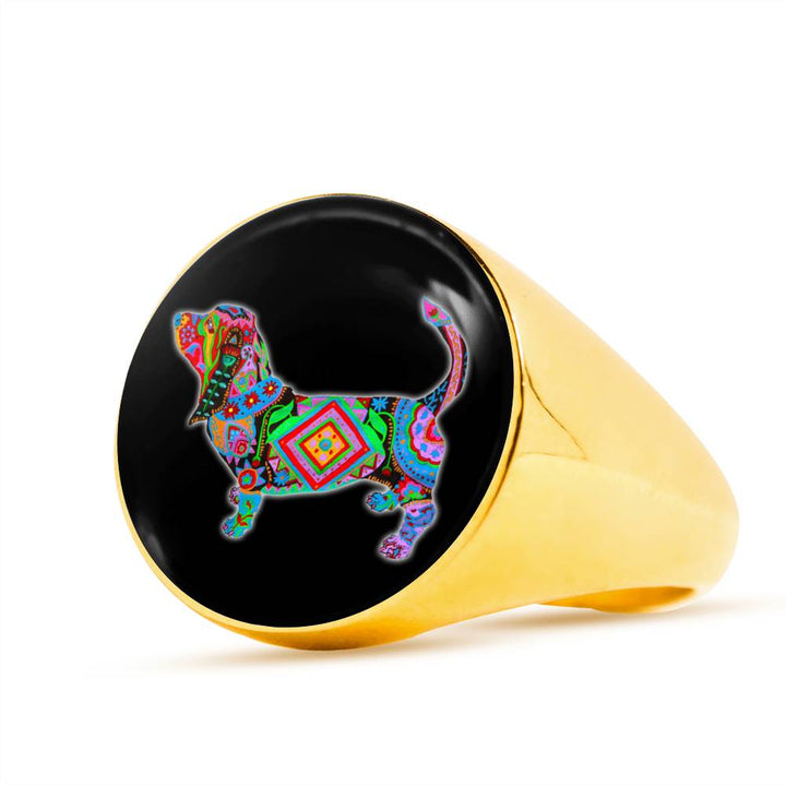 Basset Hound Stainless Steel Ring