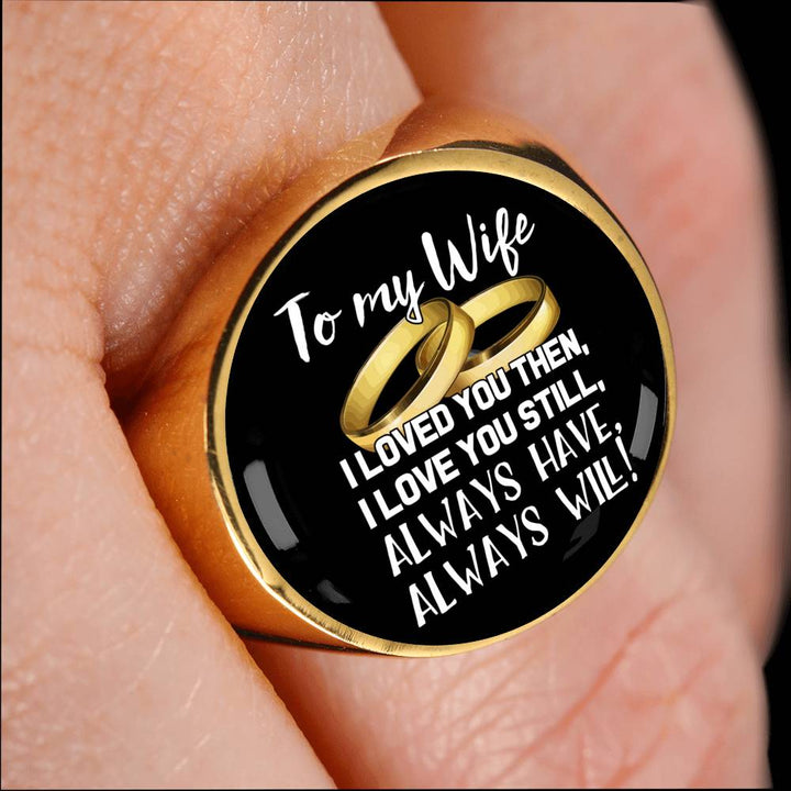 To My Wife Stainless Steel Ring