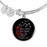 Memorial Bracelet and Bangle - Your Wings Were Ready - Pillar Styles