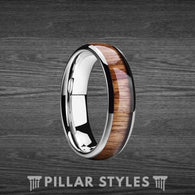4mm Koa Wood Ring Thin Wedding Band Womens Ring - Pillar Styles