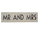 Mr & Mrs Wooden Wedding Sign - Wedding Boutique