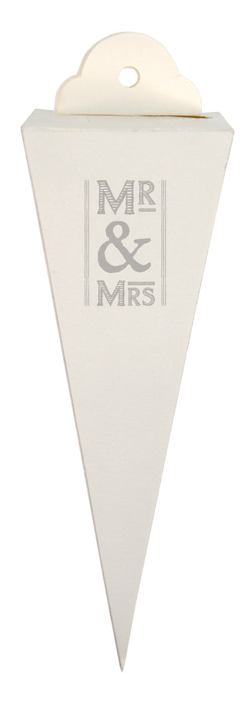 Mr & Mrs Favour Cone Boxes x6 - Wedding Boutique