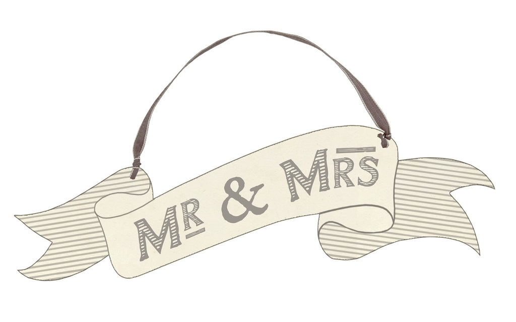 Mr & Mrs Small Hanging Wedding Sign - Wedding Boutique