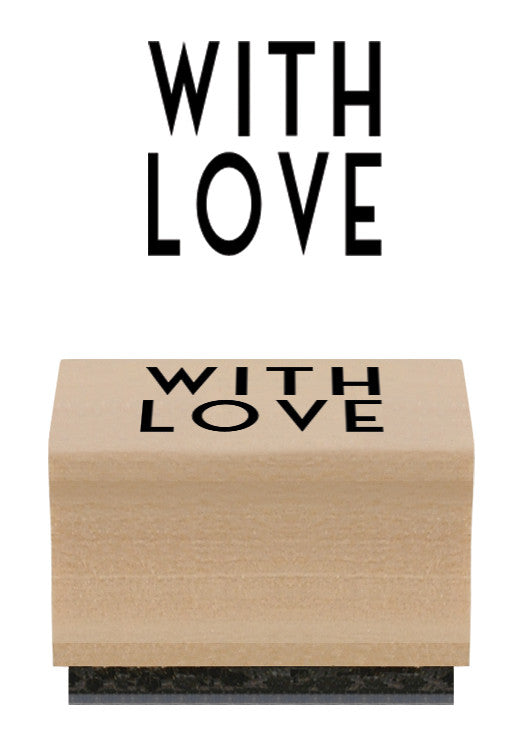 With Love Stamp & Ink Pad - Wedding Boutique